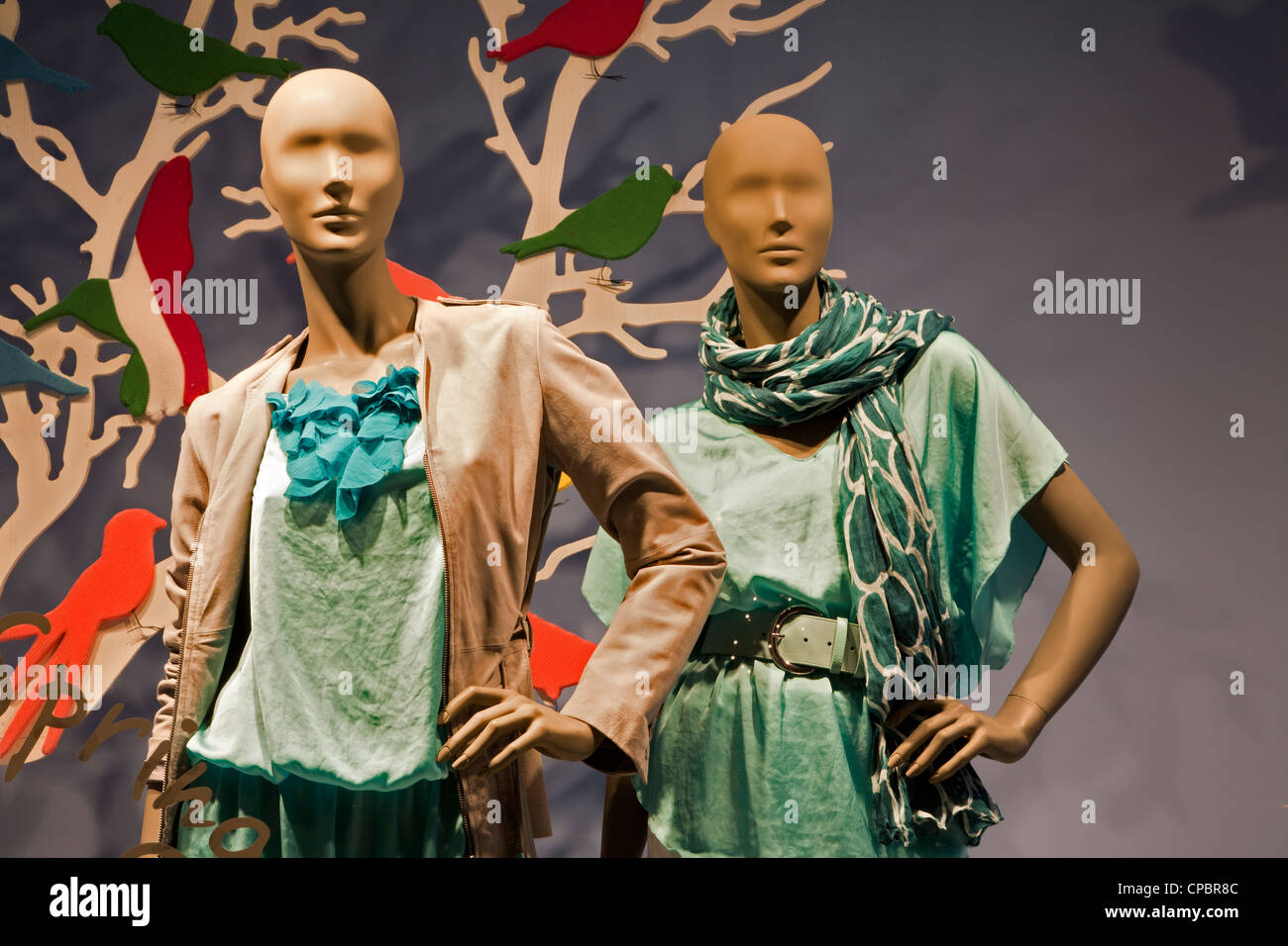 Rome - dummy in shop-window - Stock Image