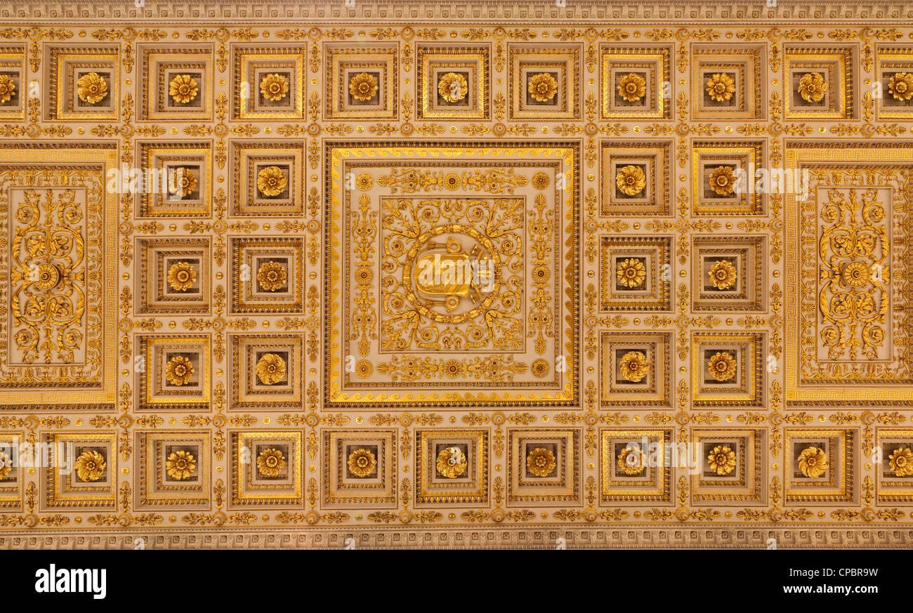 Rome - roof of st. Paul s basilica -  San Paolo fuori le Mura - Stock Image