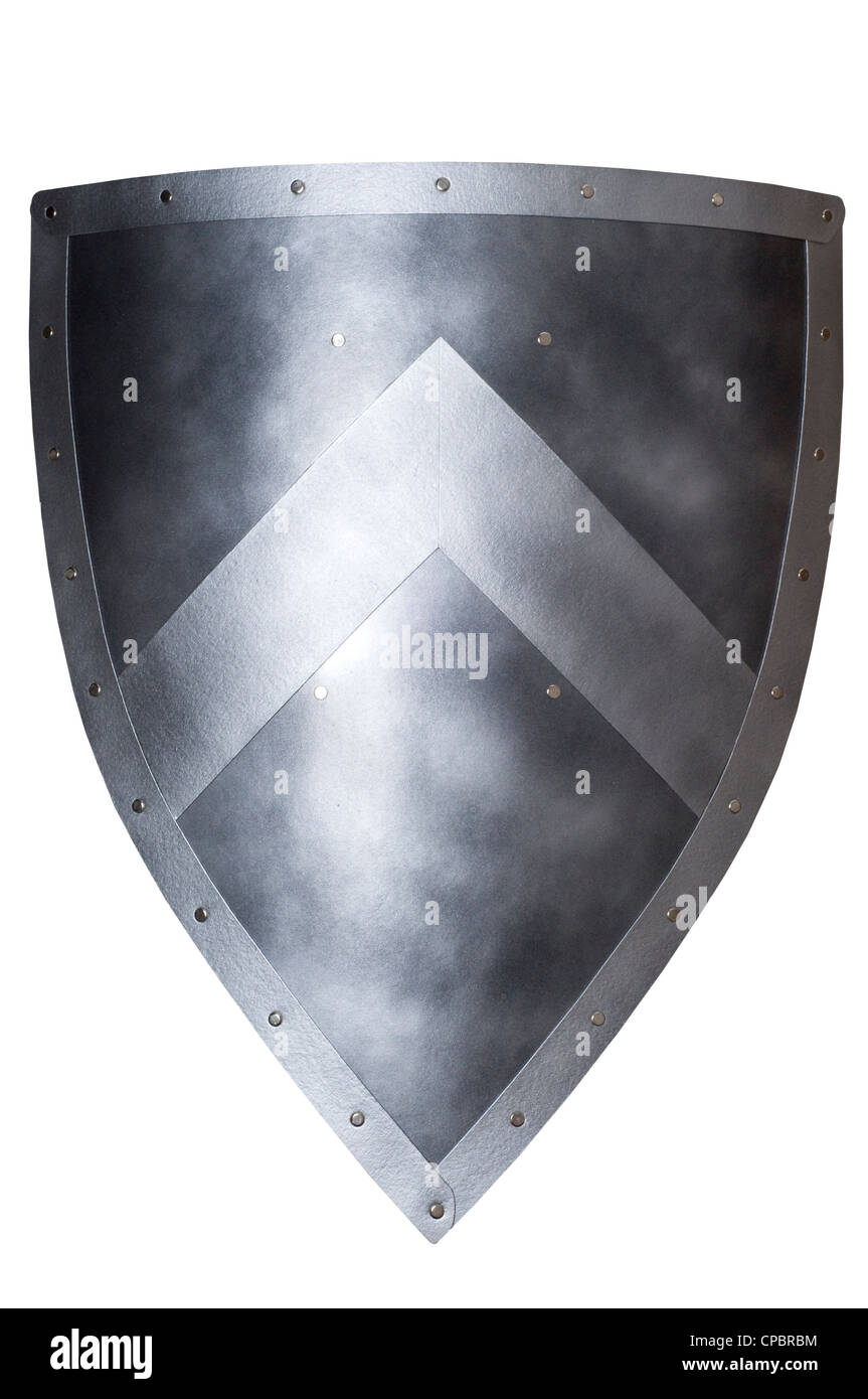 medieval shield isolated - Stock Image