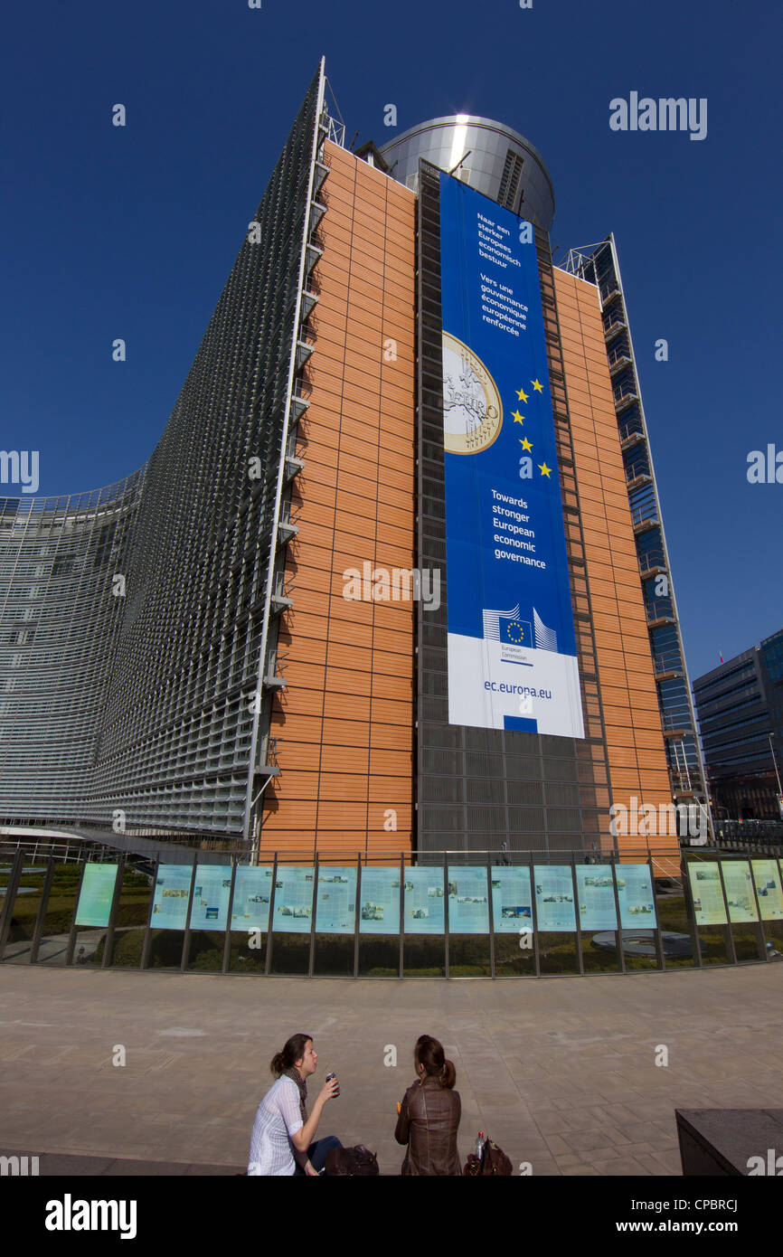 european commission building brussels belgium - Stock Image