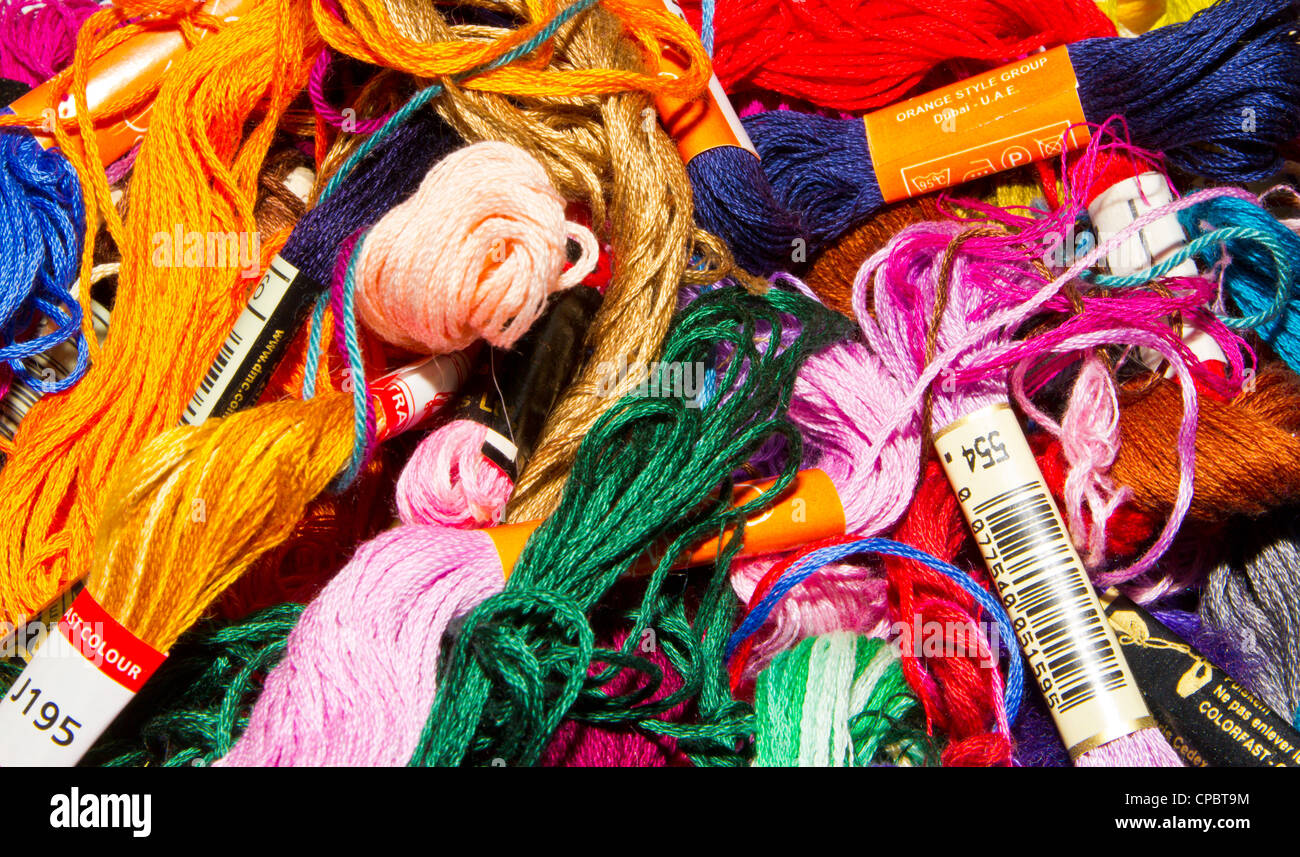 colored threads - Stock Image