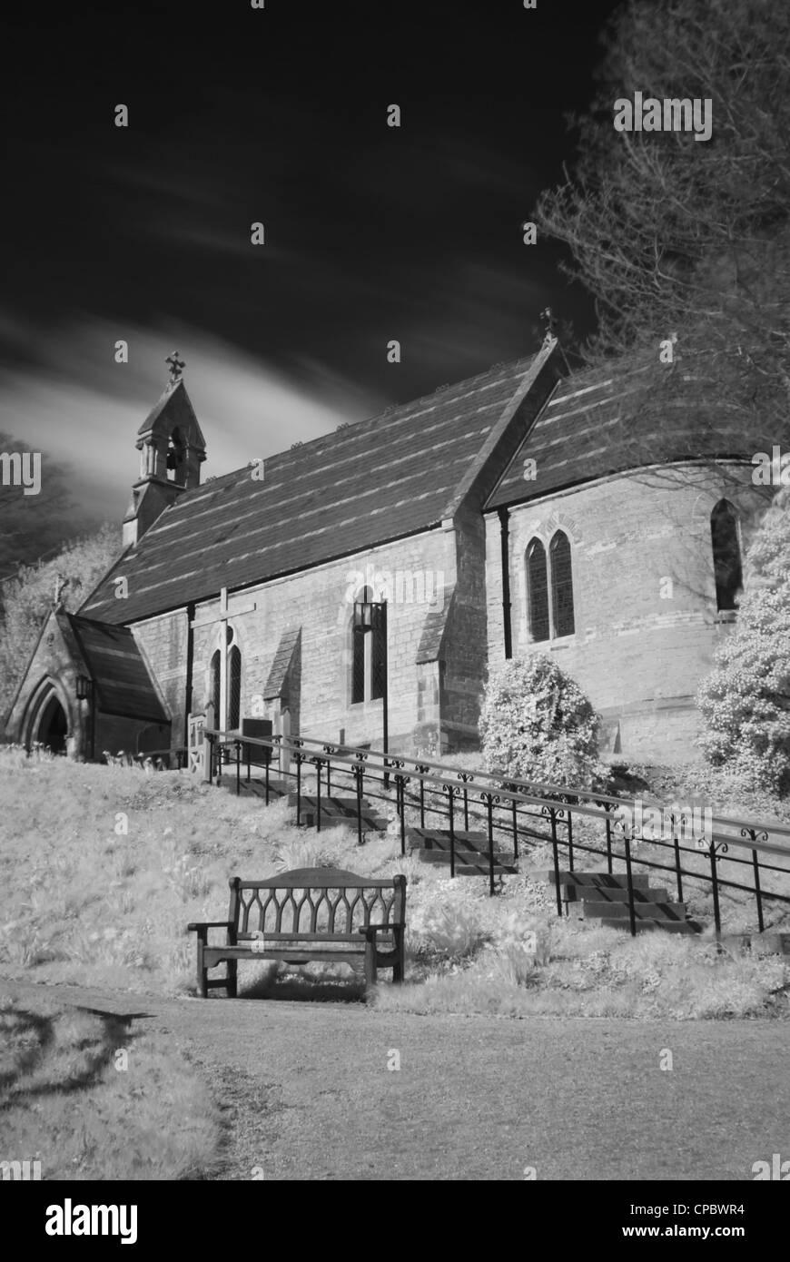The Holy Trinity Church, Bulcote, Nottinghamshire England UK - Stock Image