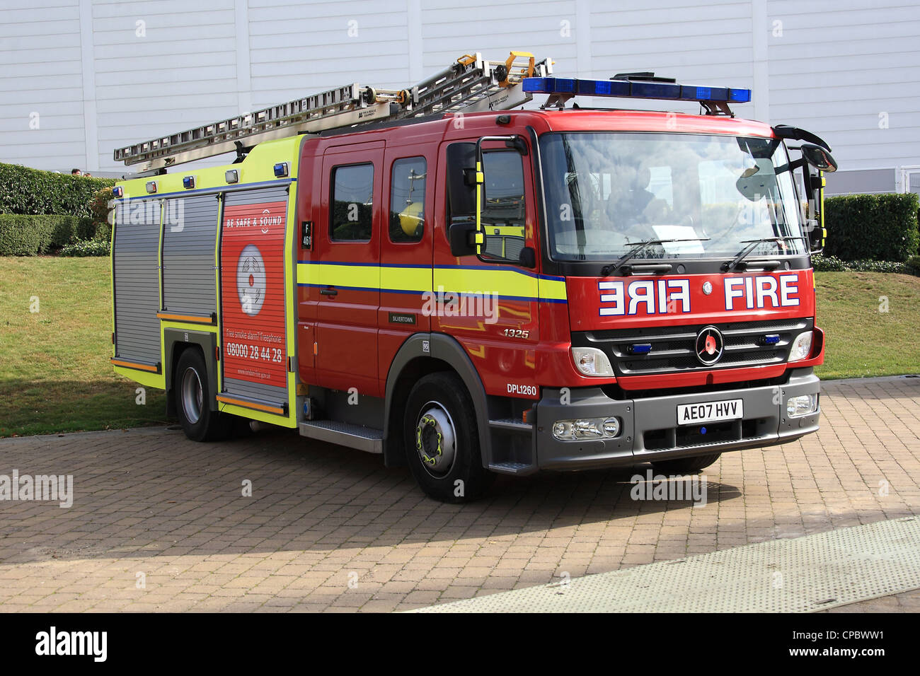 London Fire Brigade Mercedes Atego Fire Engine   Stock Image