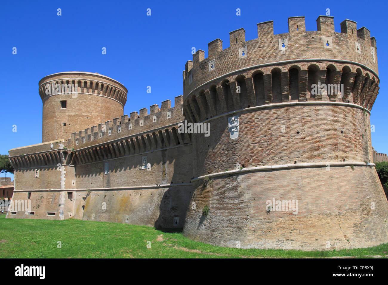 Italy Latium Ostia castle - Stock Image