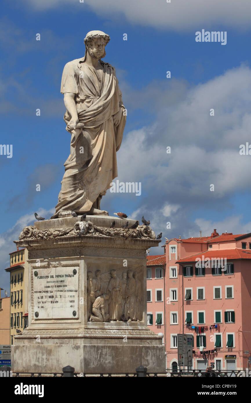 Italy Tuscany Livorno Piazza Repubblica - Stock Image