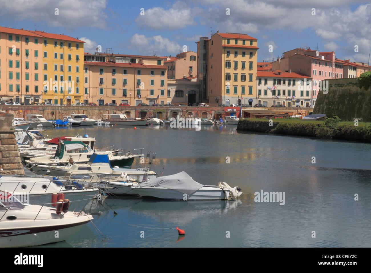 Italy Tuscany Livorno Fosso Reale - Stock Image