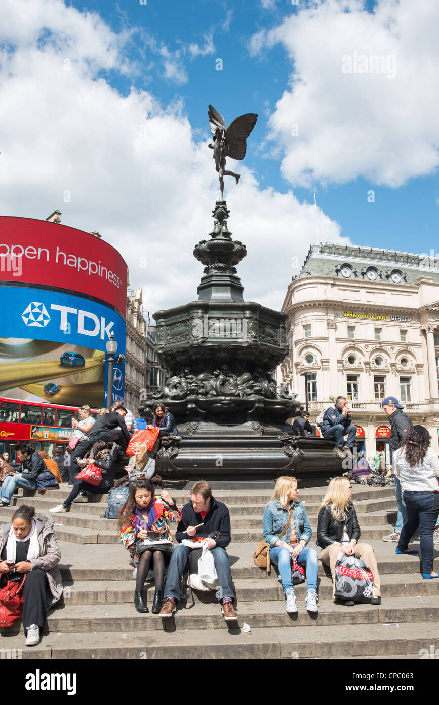 Picadilly circus, London, England. - Stock Image