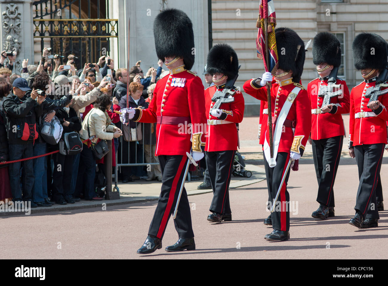 Changing of the guard at Buckingham palace. London. UK. - Stock Image