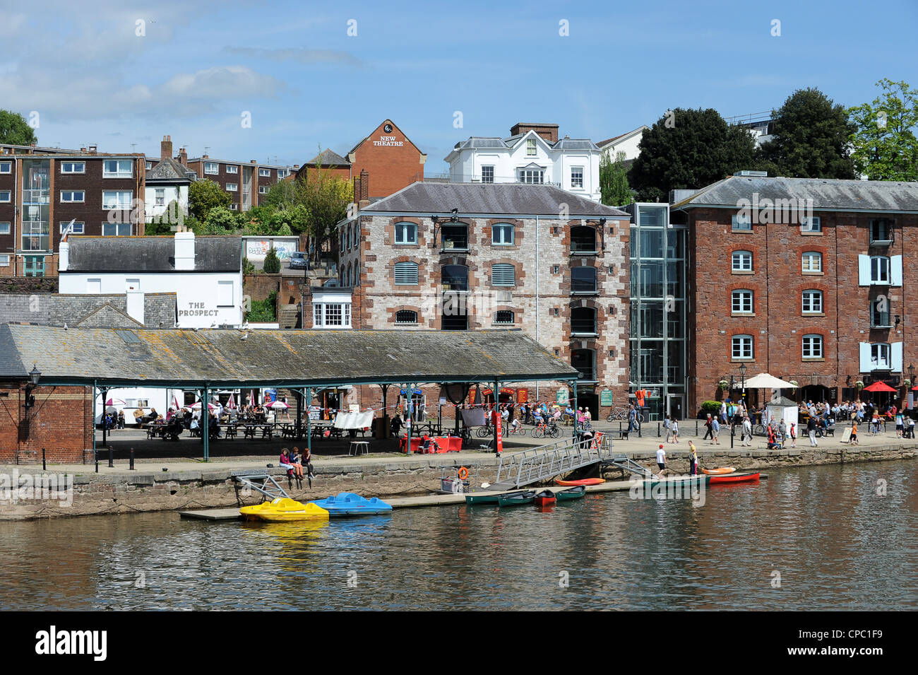 The River Exe at Exeter Quay Devon, UK - Stock Image