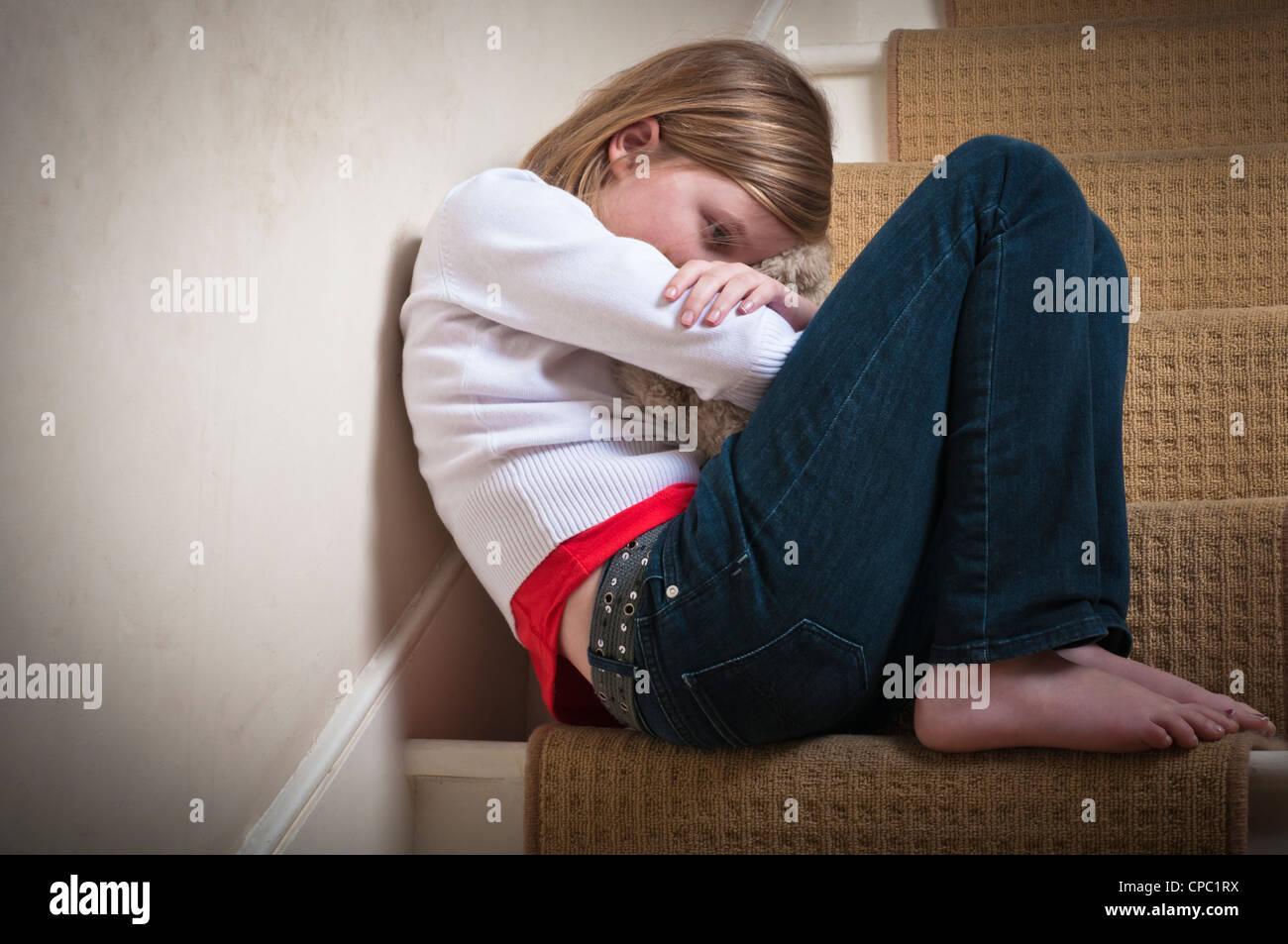 Child neglect - Stock Image