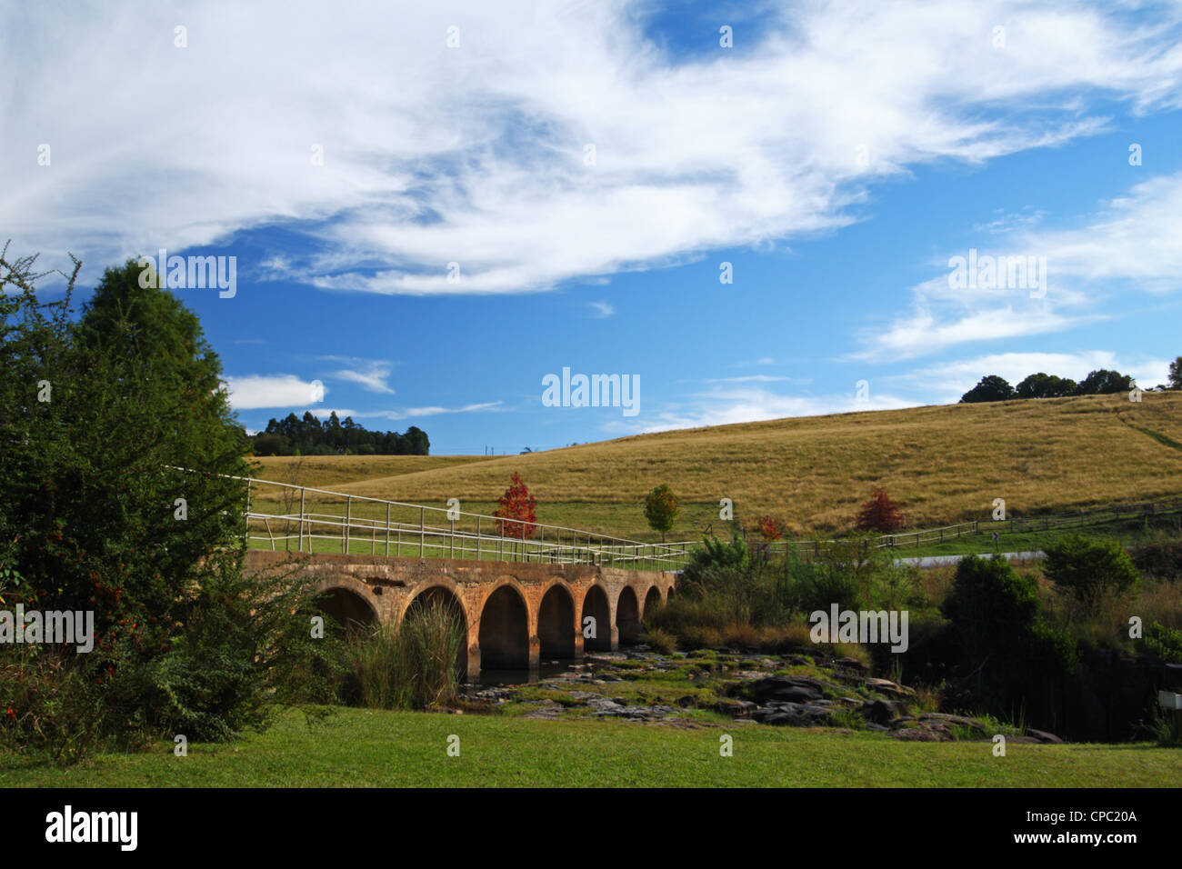 View from Caversham Mill, Midlands Meander, Kwazulu Natal, South Africa - Stock Image