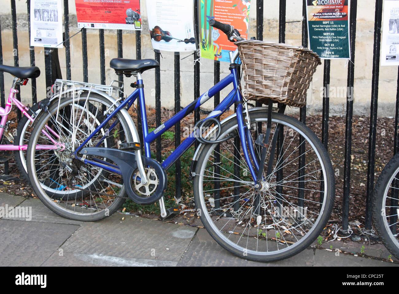 Bicycles in Cambridge, UK Stock Photo