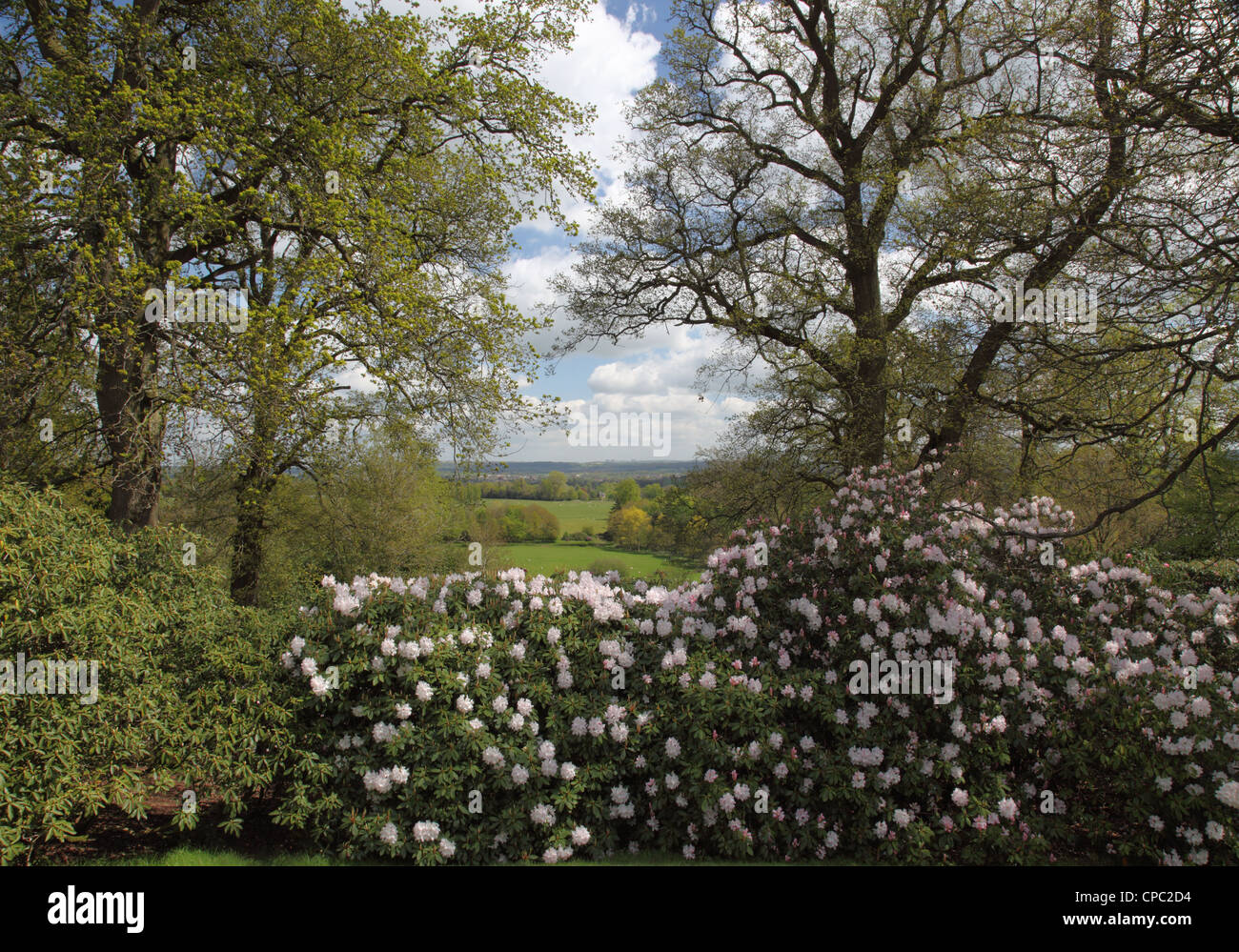View from the Mausoleum, Bowood Gardens, Calne, Wiltshire - Stock Image