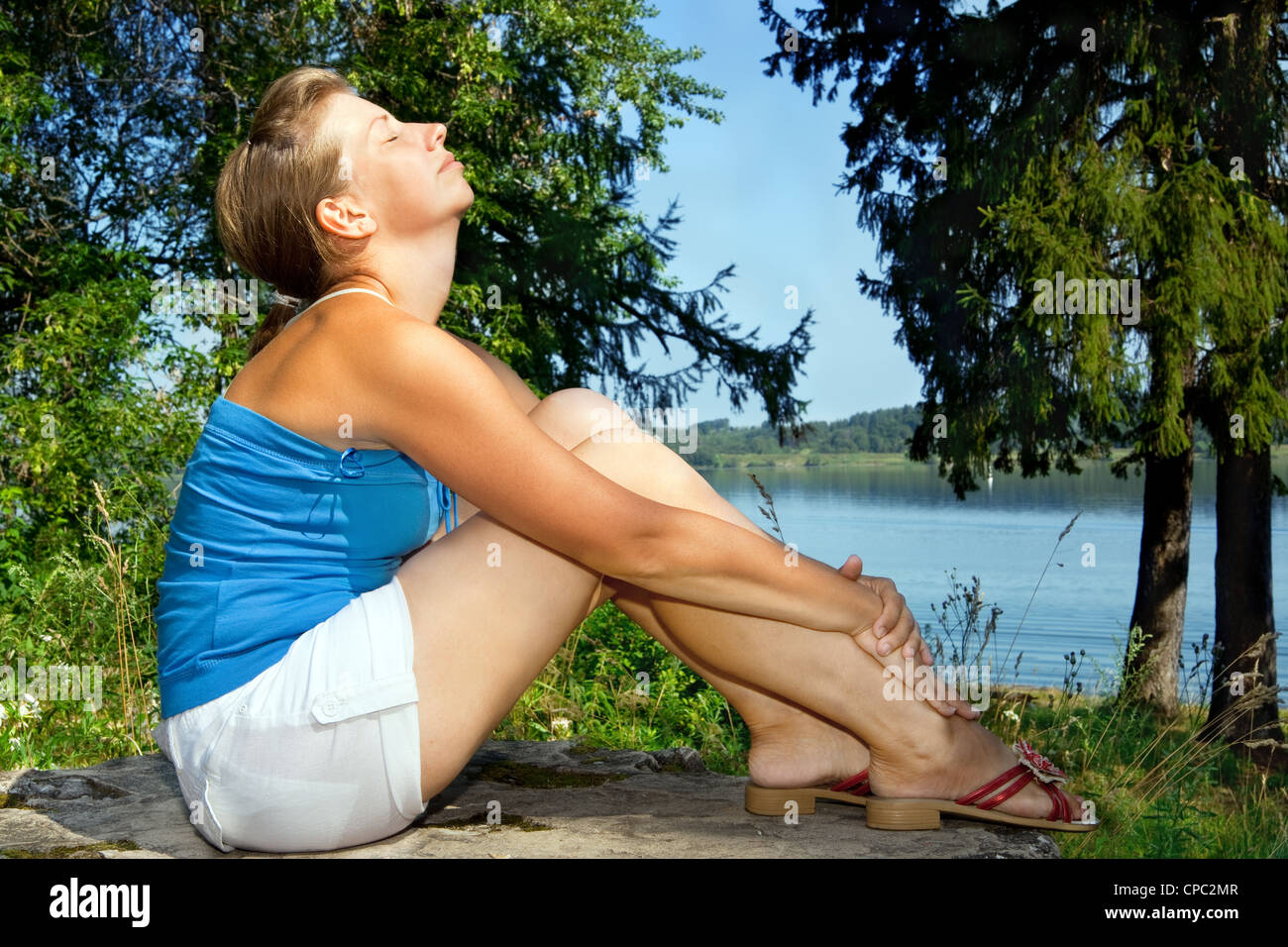 woman relaxing - Stock Image