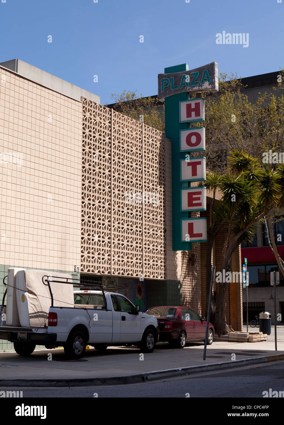 Old motel - Stock Image