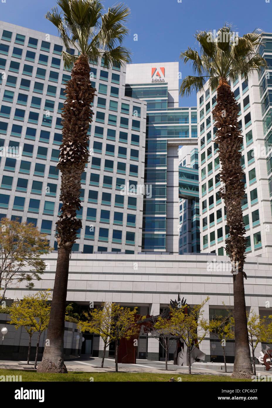 Adobe headquarters building in San Jose, California - Stock Image