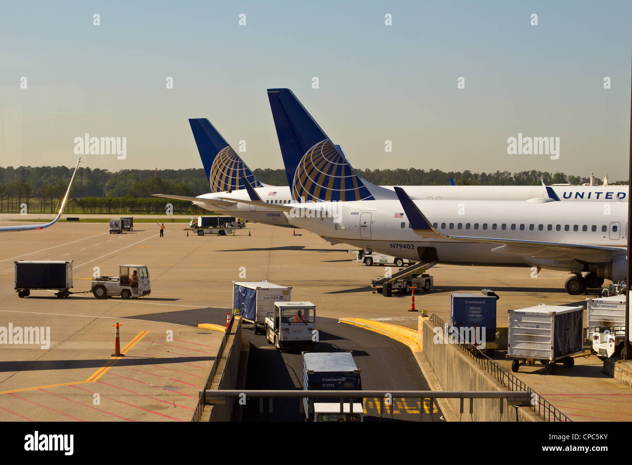 United/Continental airlines creates a merger. - Stock Image