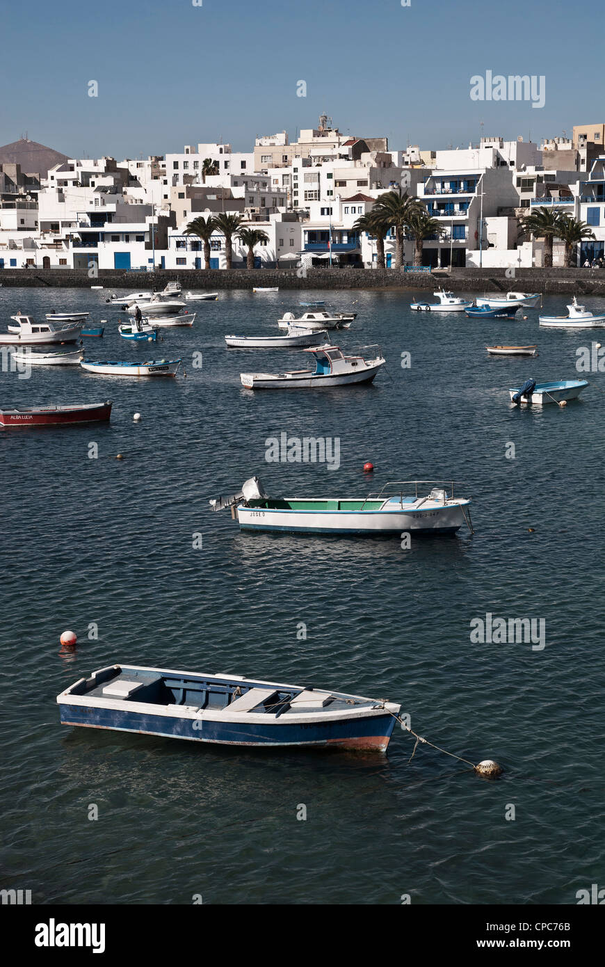 Arrecife, the capital of the Canary Island of Lanzarote, spain - Stock Image
