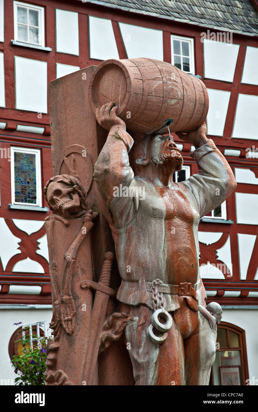 Monument in the old town of Limburg an der Lahn. - Stock Image