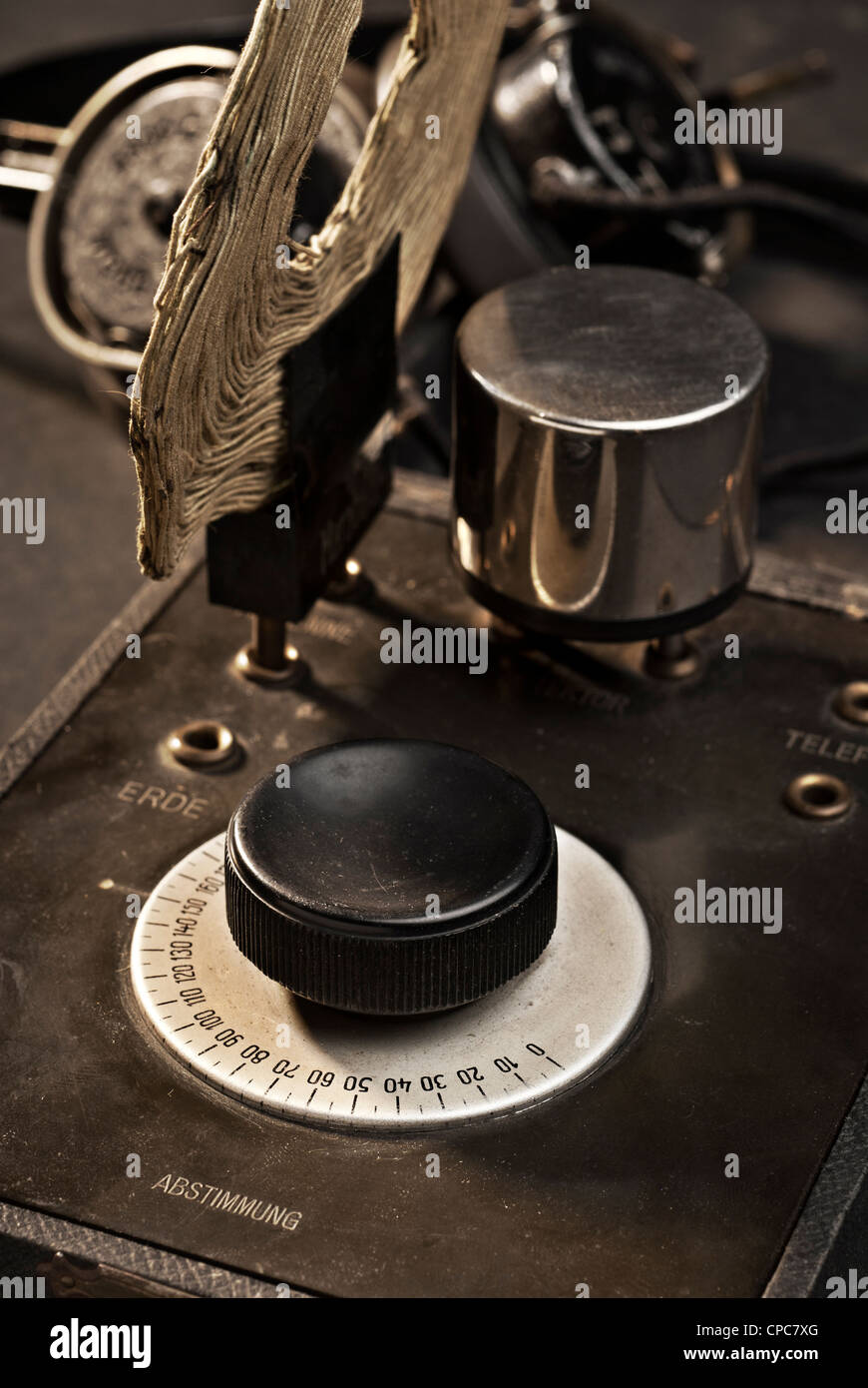 Old detector receiver. - Stock Image