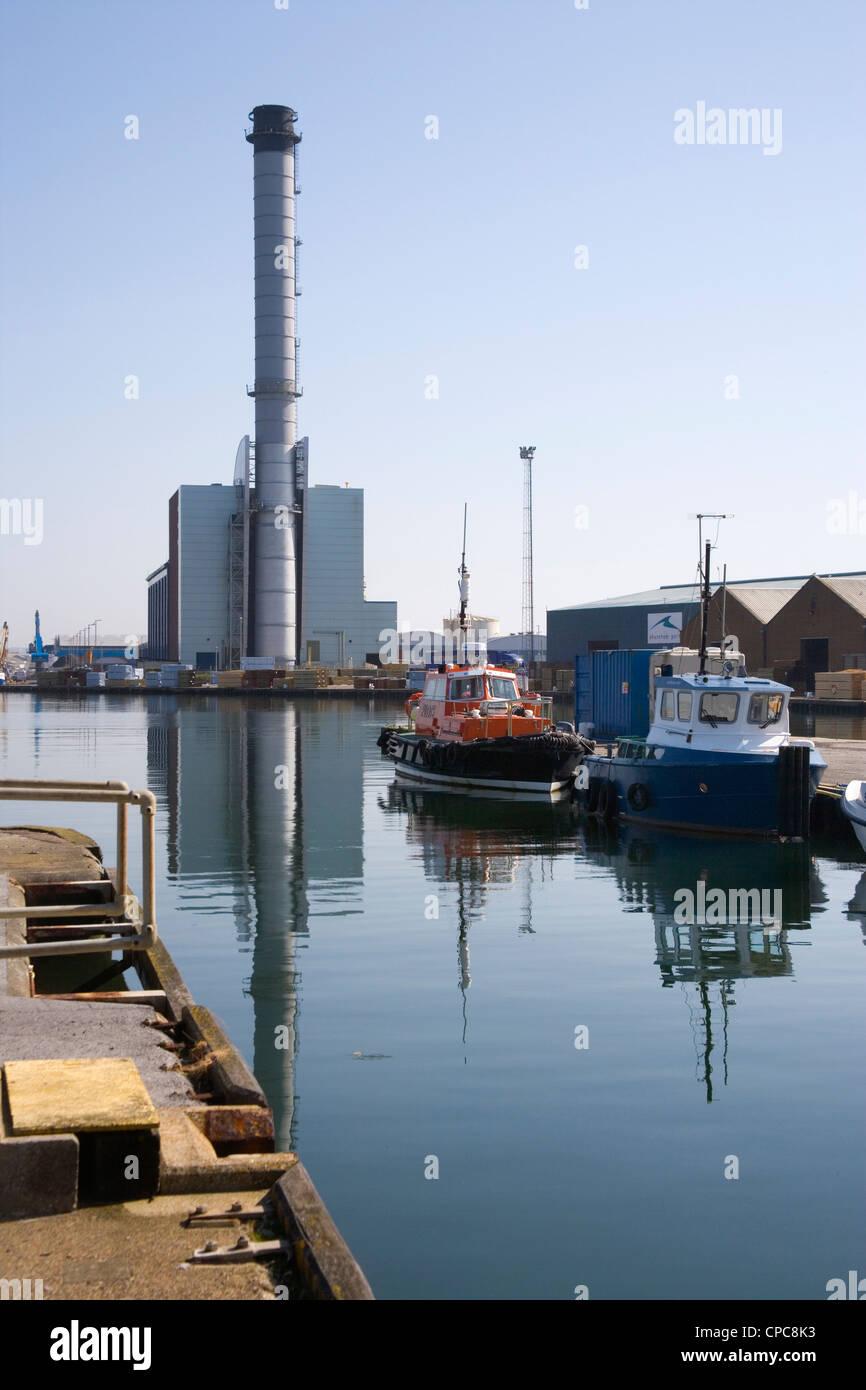 shoreham port on the west sussex coast Stock Photo