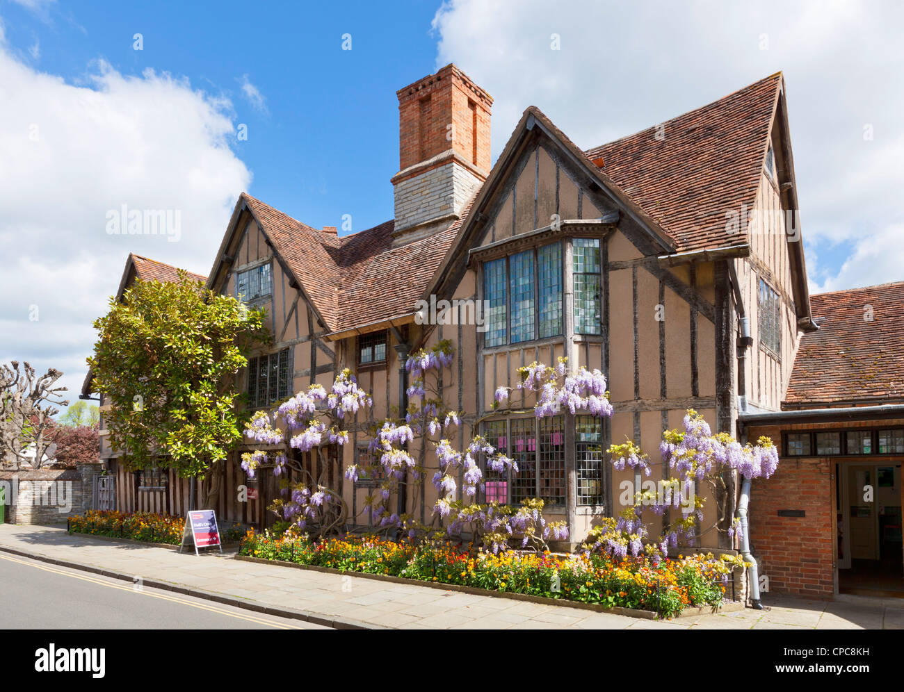 Hall's croft was home to Shakespeare's daughter Susanna and her husband, Stratford upon Avon Warwickshire - Stock Image