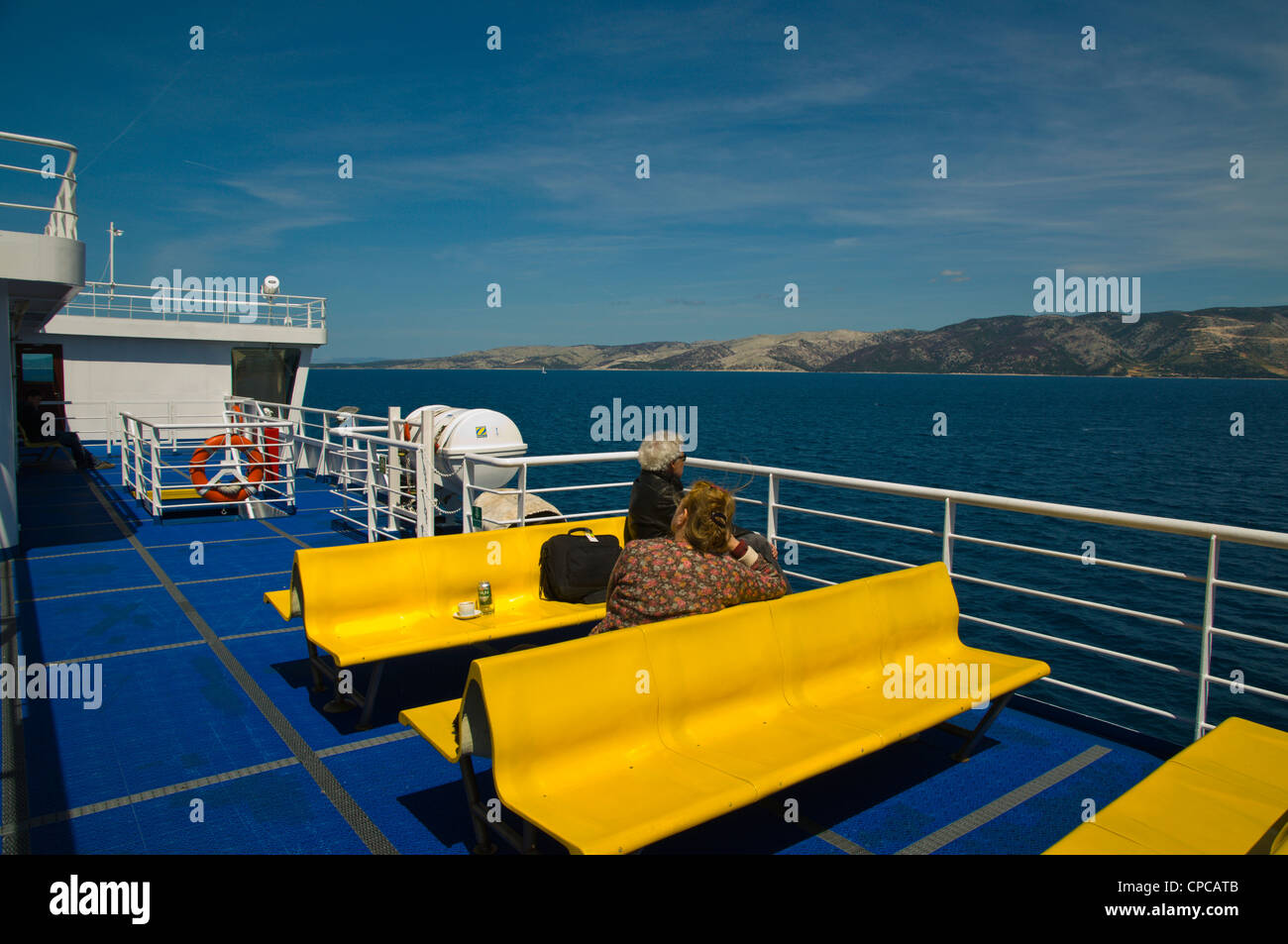 Passenger ferry from Stari Grad to Split on Adriatic coast Dalmatia Croatia Europe - Stock Image
