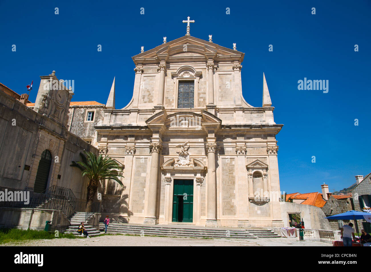 Isusovačka crkva the Jesuit church Grad the old town Dubrovnik city Dalmatia Croatia Europe - Stock Image