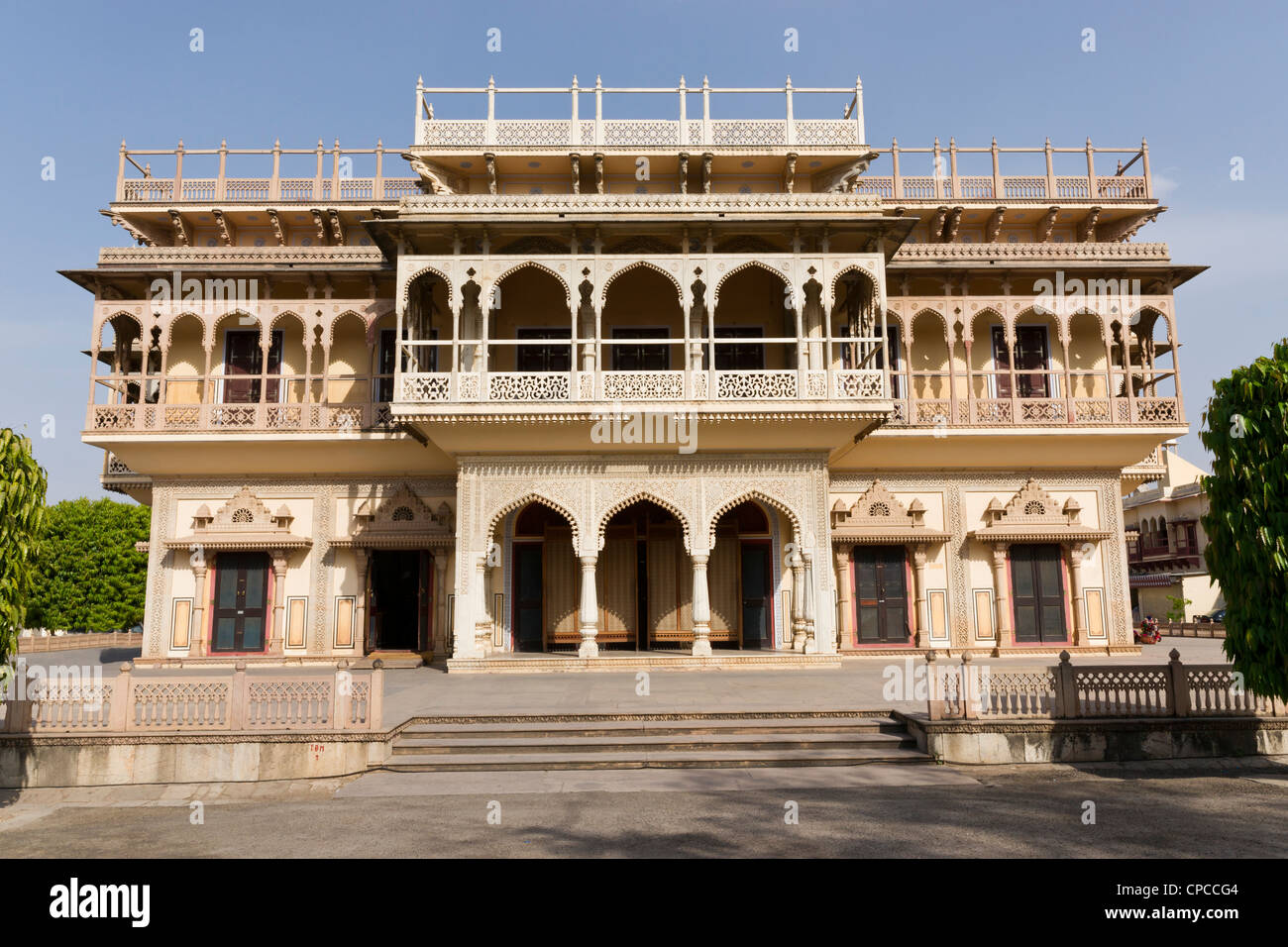 Mubarak Mahal, meaning the 'Auspicious Palace', was built with a fusion of  Islamic, Rajput and European - Stock Image