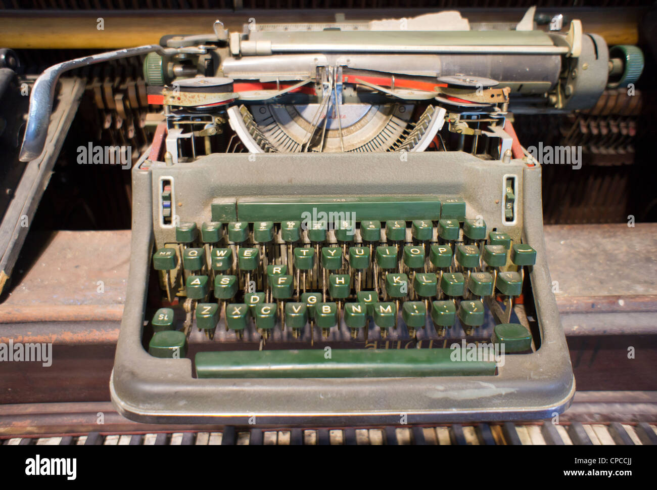 57d7884b1293ac A dilapidated manual typewriter is seen in New York on on Sunday ...