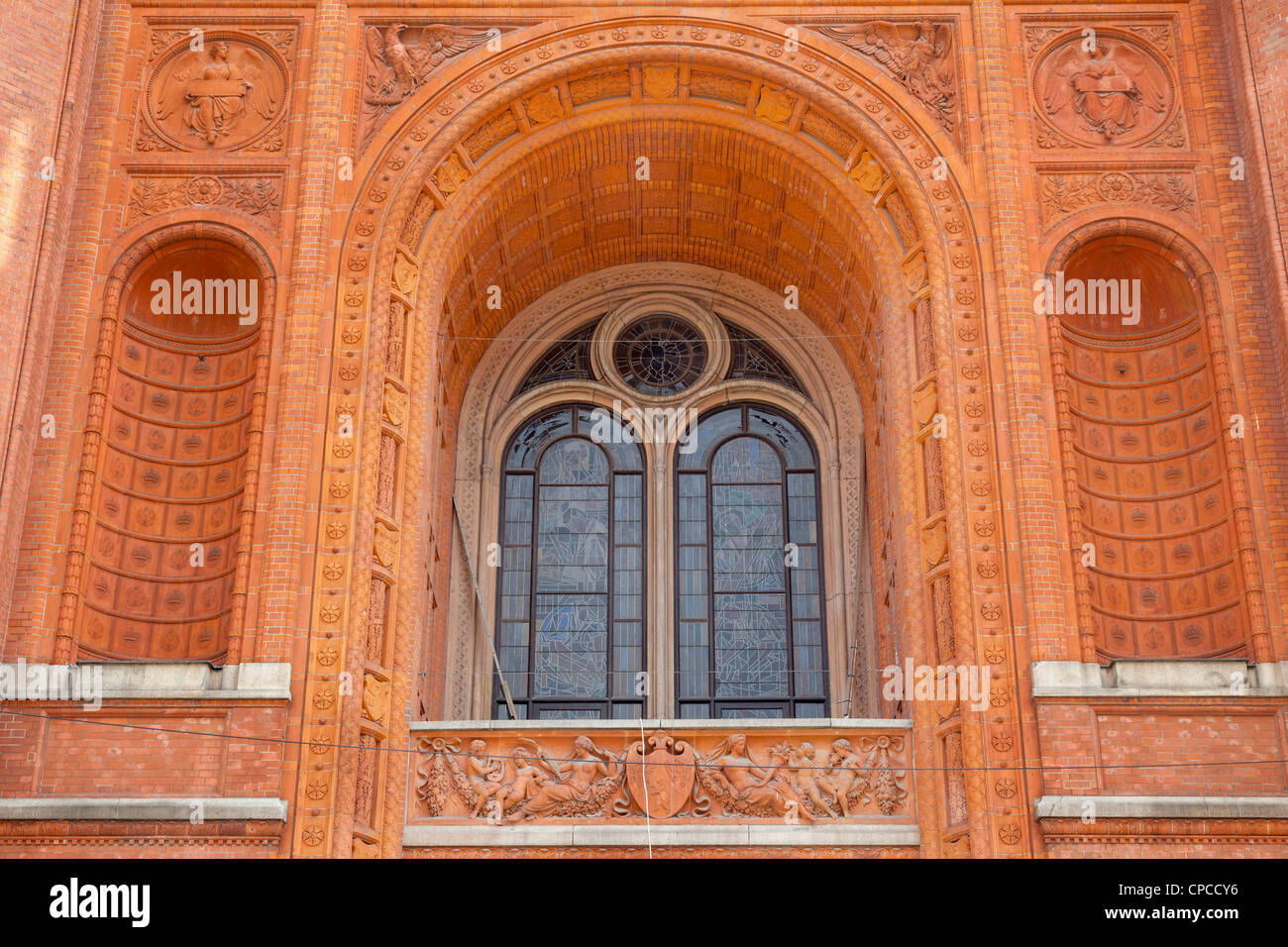 Rotes Rathaus, Berlin, Germany - Stock Image