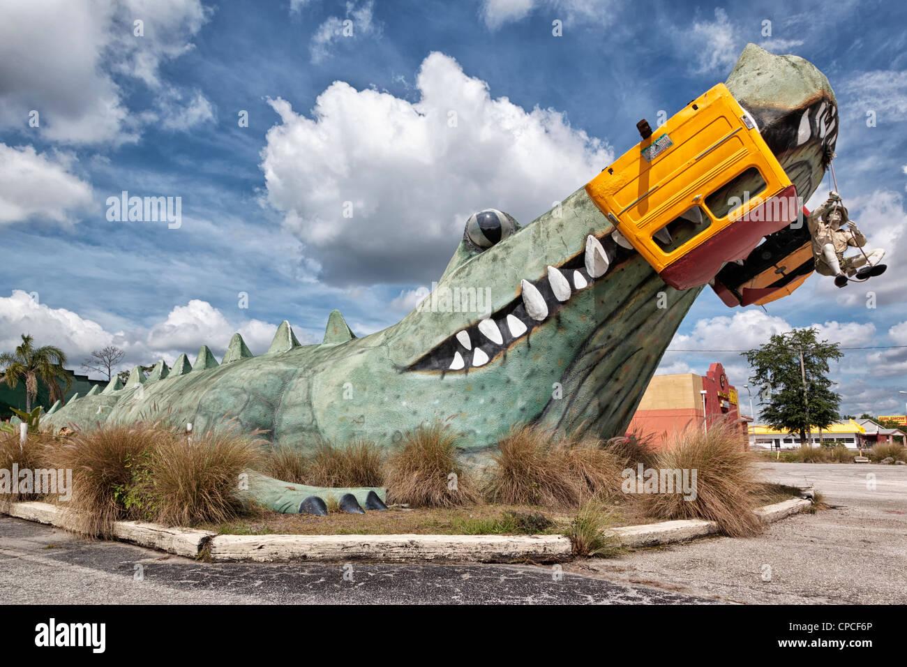 The Gator Motel - Kissimmee - Florida - USA - Stock Image