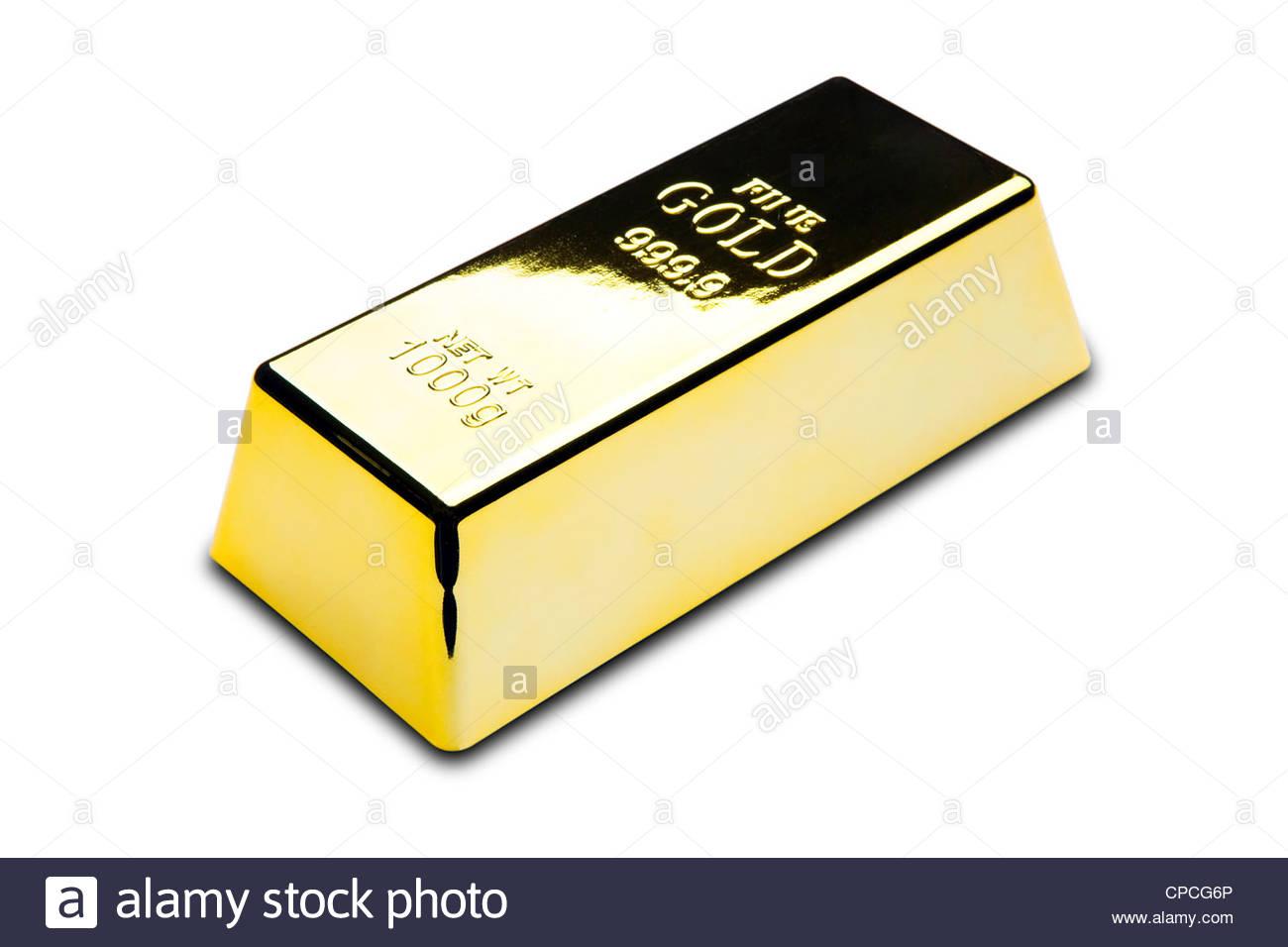 Gold bar - Stock Image