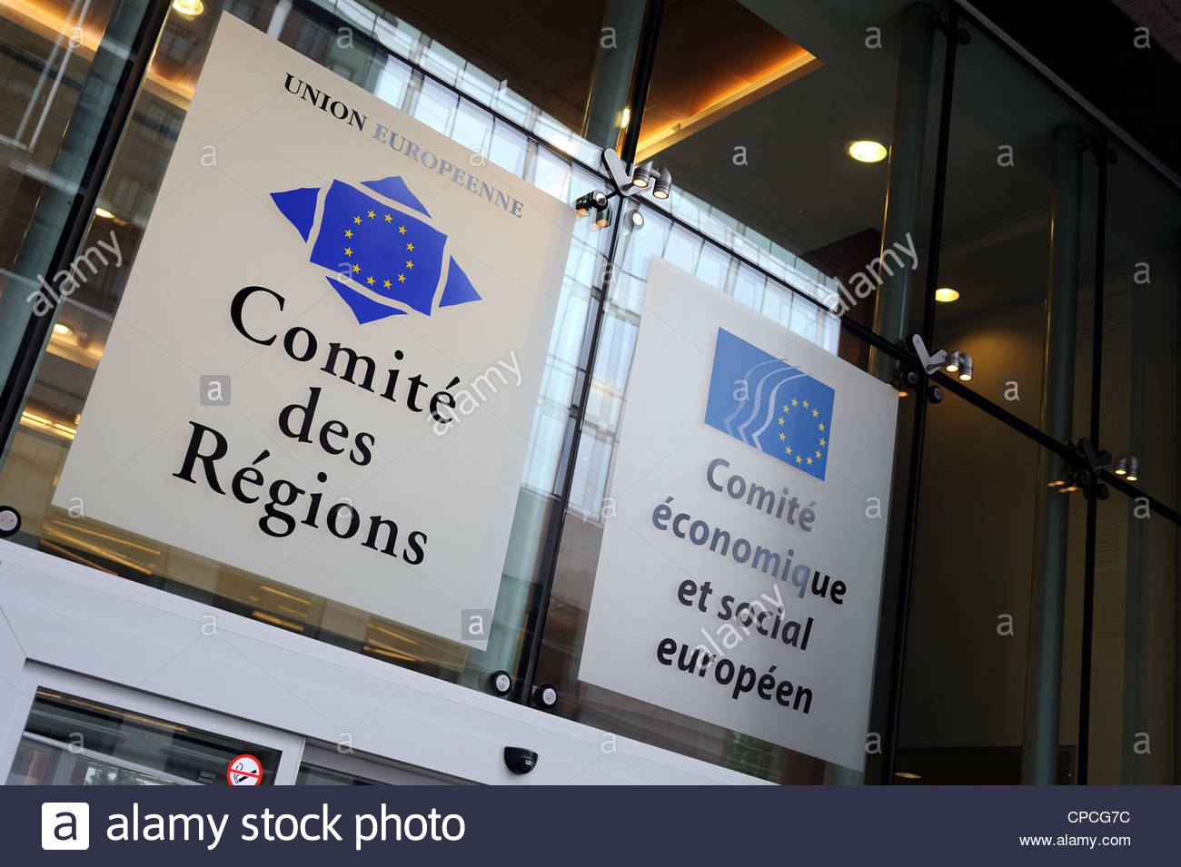 Brussels, Belgium European Union Committee of Regions Directorate. - Stock Image