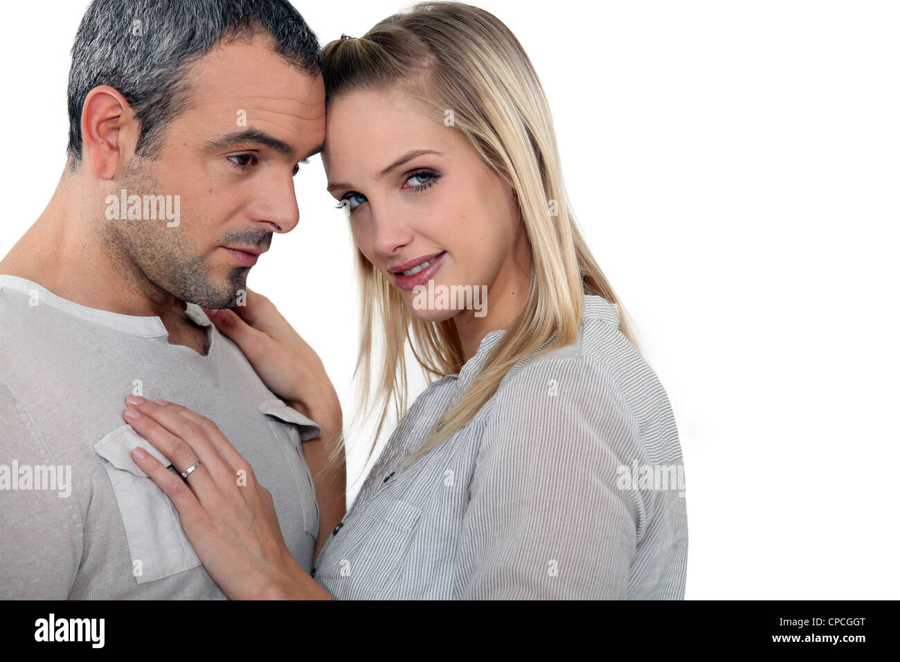 Couple embracing - Stock Image