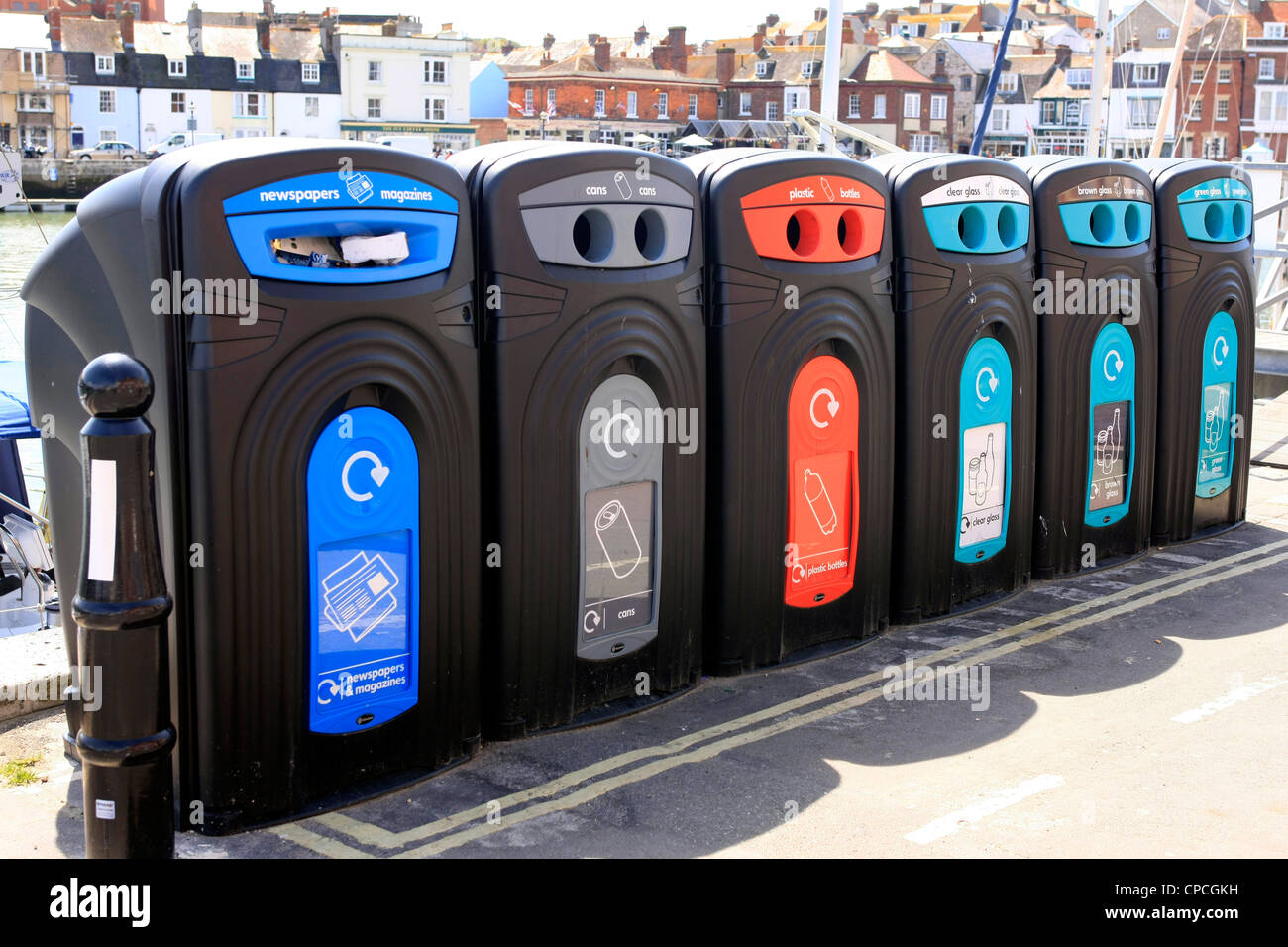 Recycle Bins Point Stock Photos Amp Recycle Bins Point Stock