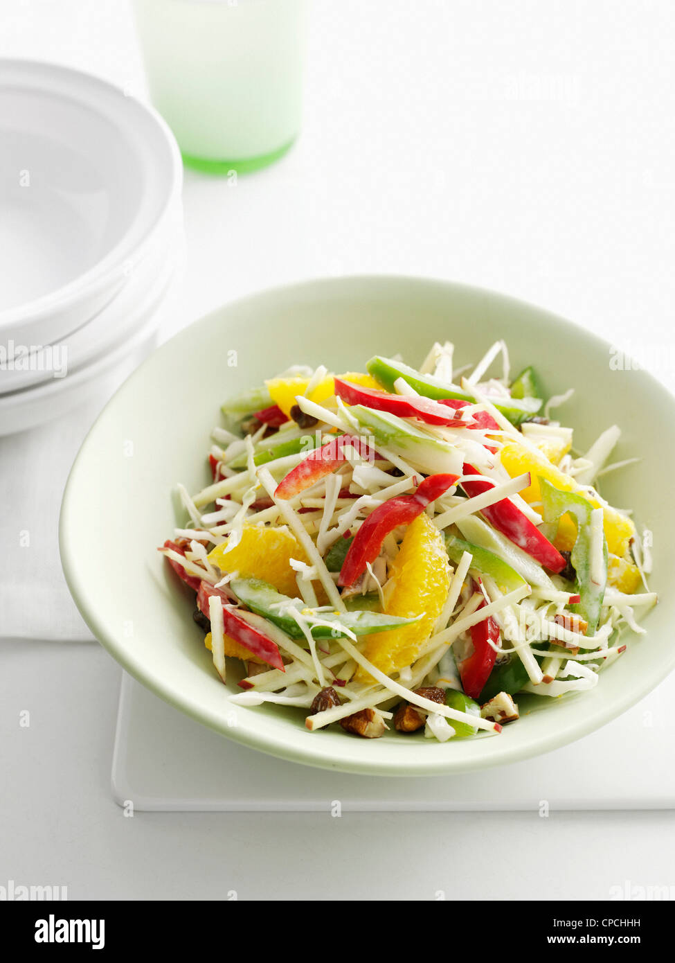 Close up of bowl of fruit salad - Stock Image