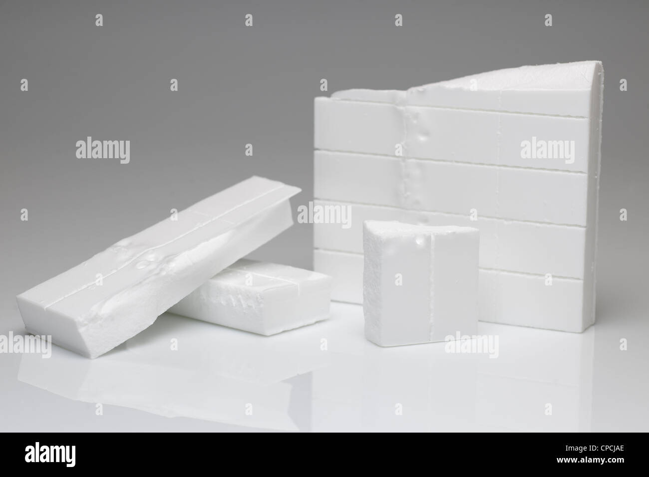 Broken fire lighter blocks for Barbecues and fire lighting - Stock Image