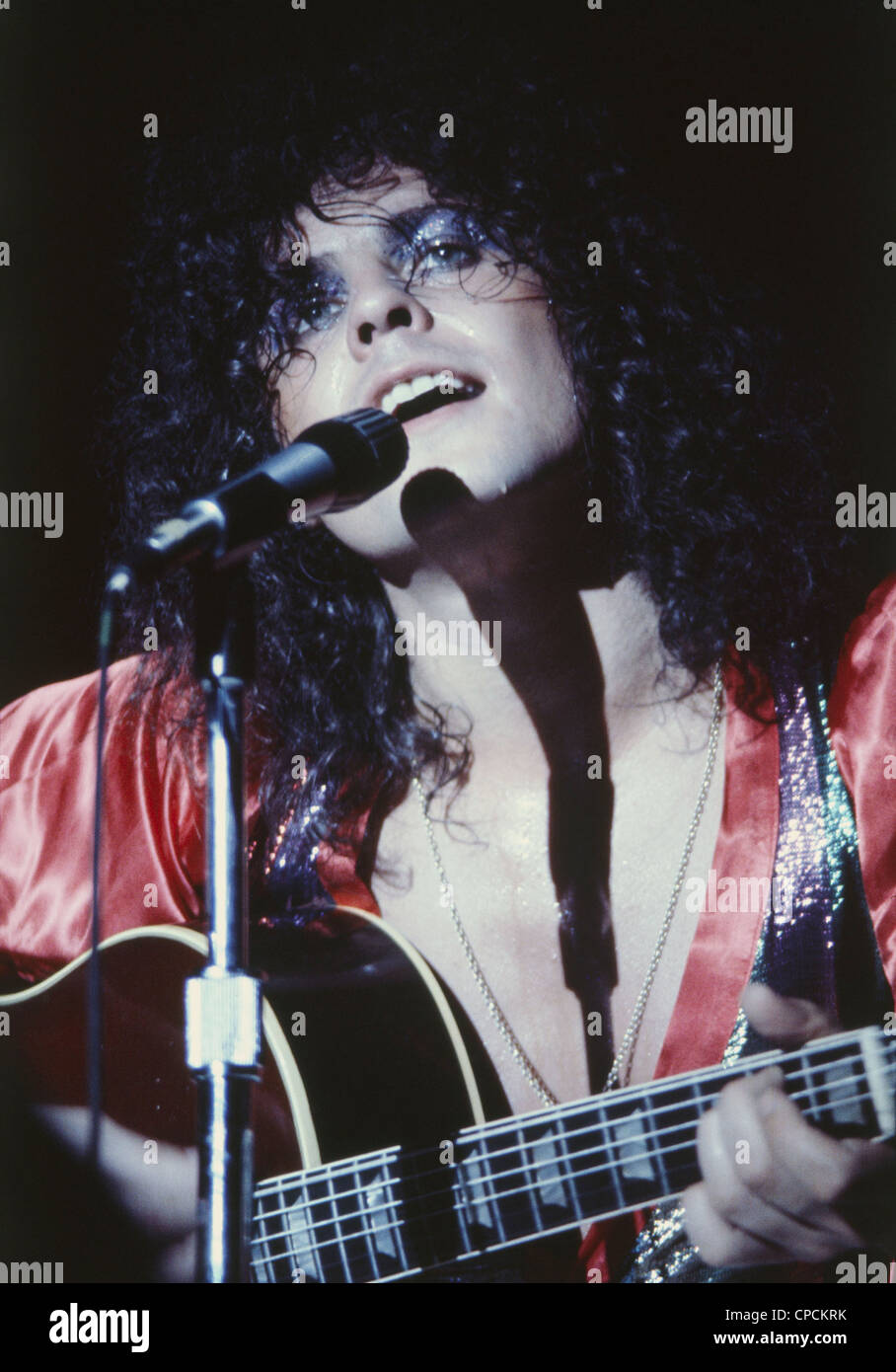 MARK BOLAN in T-Rex - UK rock musician about 1978. Photo Jeffrey Mayer - Stock Image