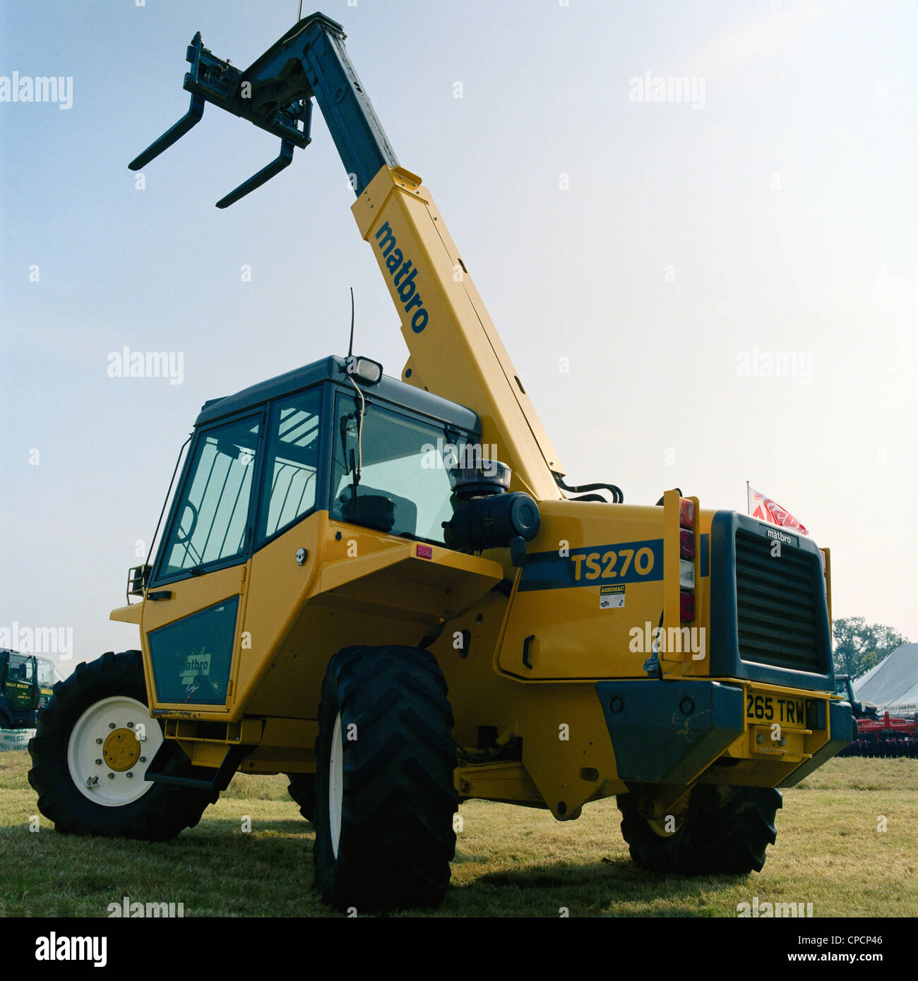 Yellow Matbro T5270 telescopic handler at the Gransden and District Agricultural Show Cambridgeshire England Stock Photo