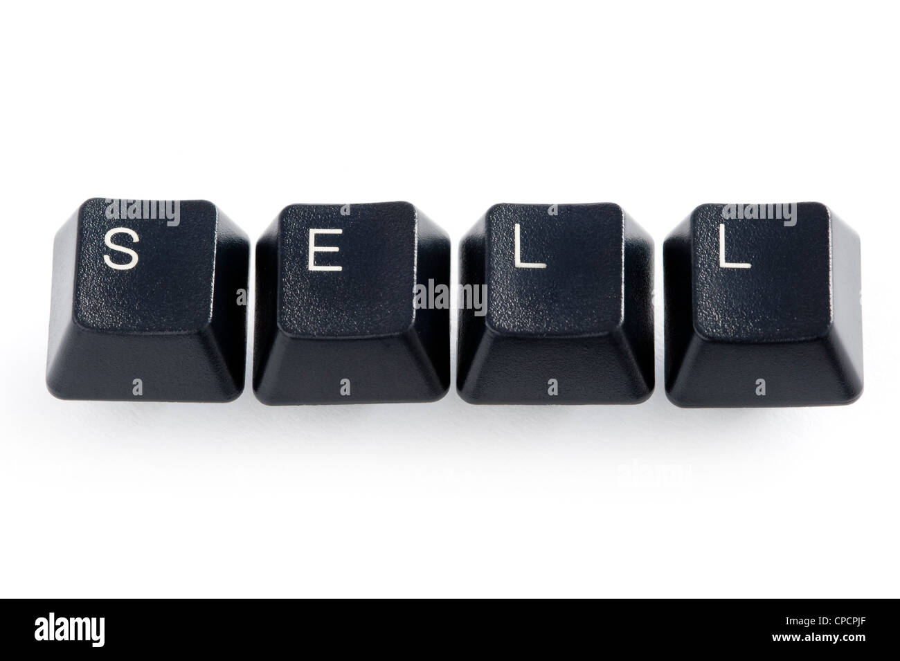 concept online internet cyber trading using the word sell - Stock Image