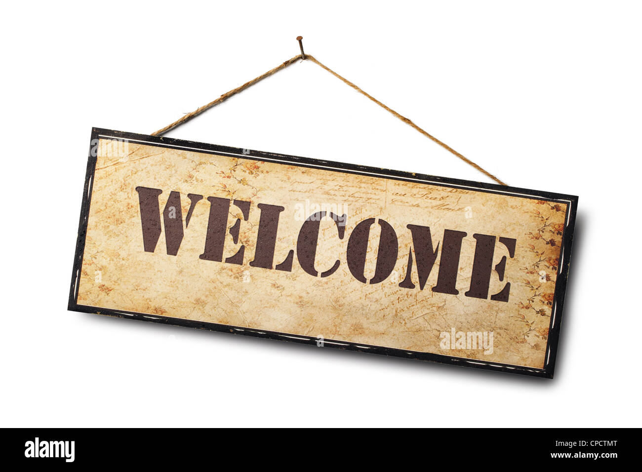 Welcome sign isolated on white. - Stock Image
