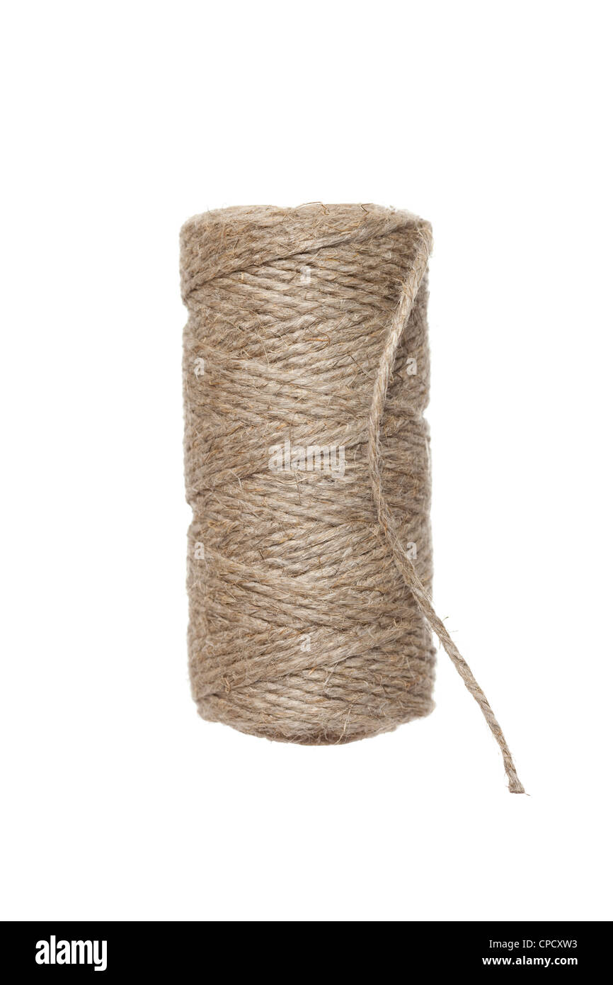 thin and durable string wound on bobbin - Stock Image