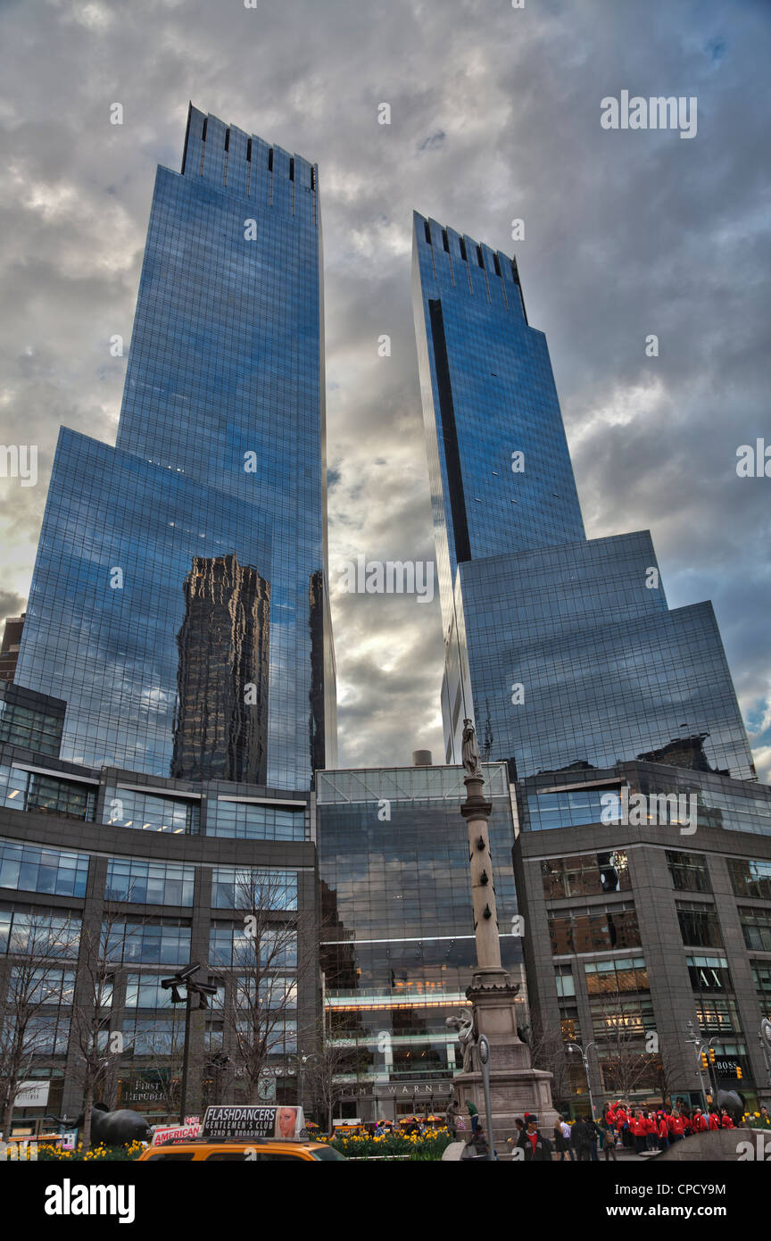 Time Warner Center at Columbus Circle in Manhattan, New York City - Stock Image