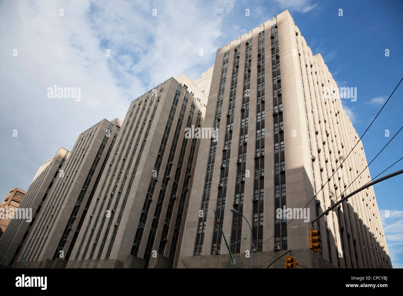 Criminal Courts Building at 100 Centre Street in Manhattan, New York City - Stock Image
