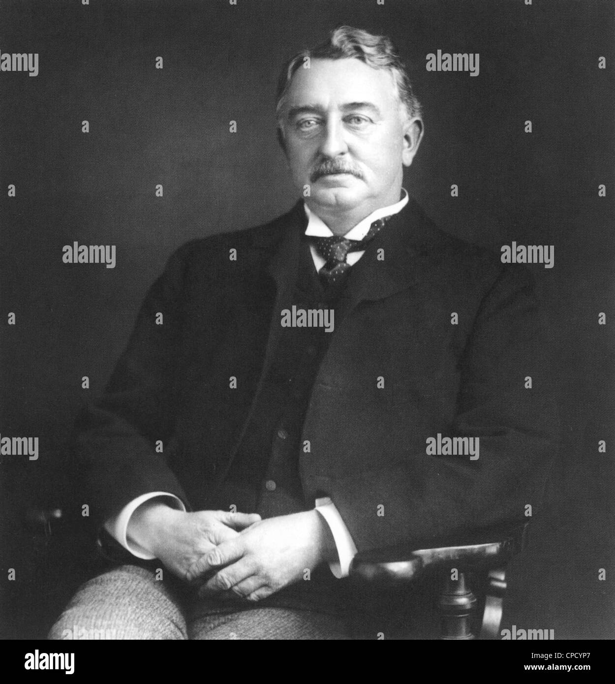 CECIL RHODES (1853-1902) South African entrepreneur in 1890 - Stock Image