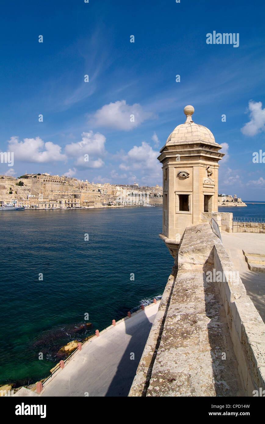 Fort St. Michael, Senglea, Grand Harbour, Valletta, Malta, Mediterranean, Europe - Stock Image