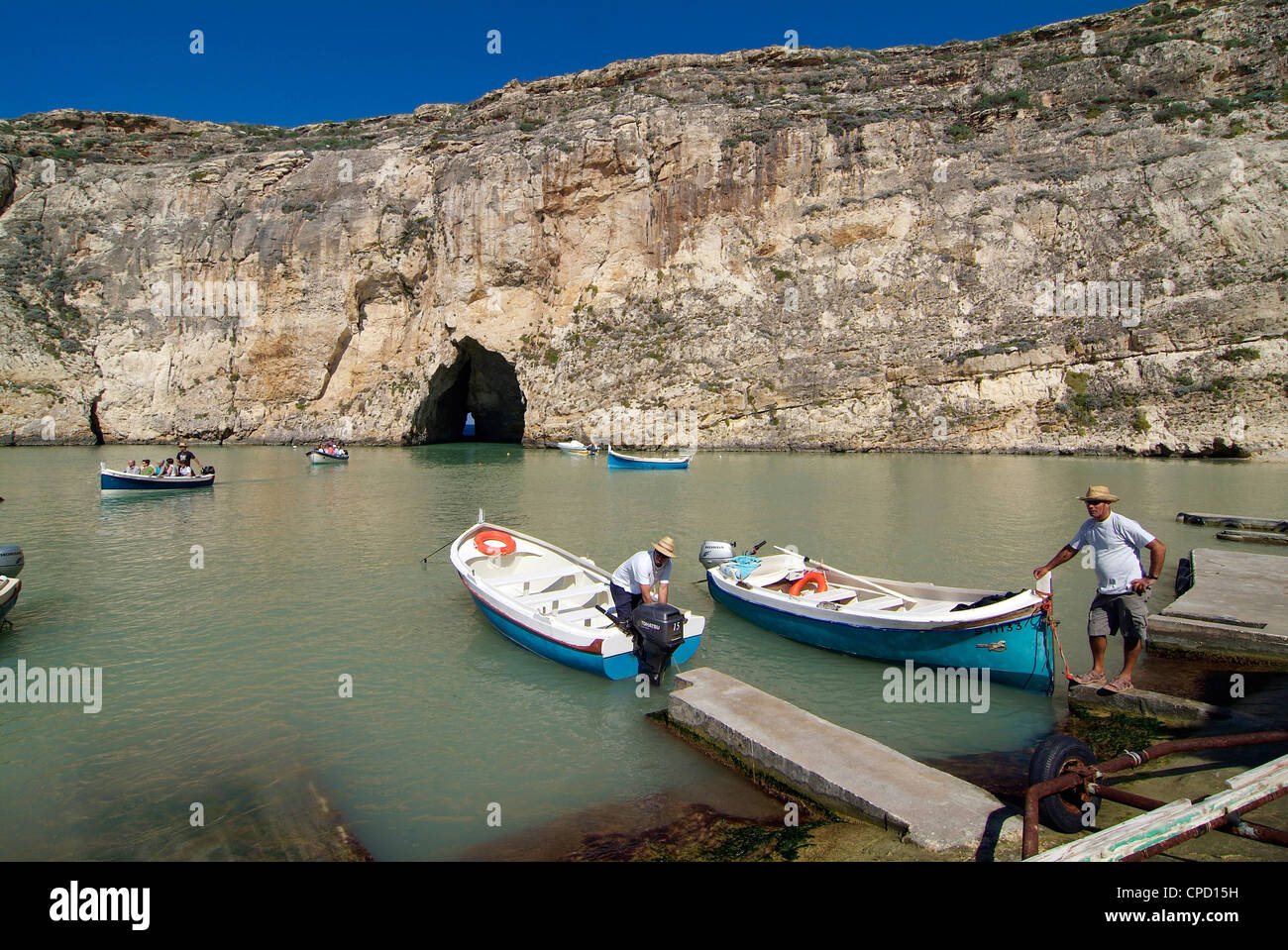 Inland Sea, Dwejra Bay, Gozo, Malta, Mediterranean, Europe Stock Photo
