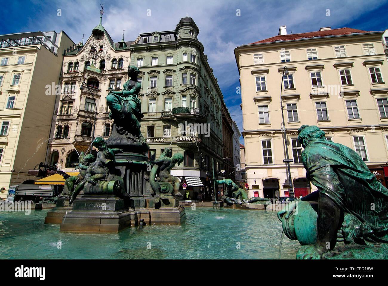 Neuer Markt, Vienna, Austria, Europe - Stock Image