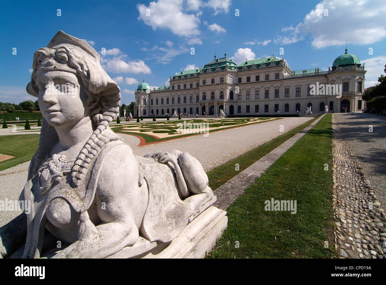 Belvedere Palace, UNESCO World Heritage Site, Vienna, Austria, Europe - Stock Image